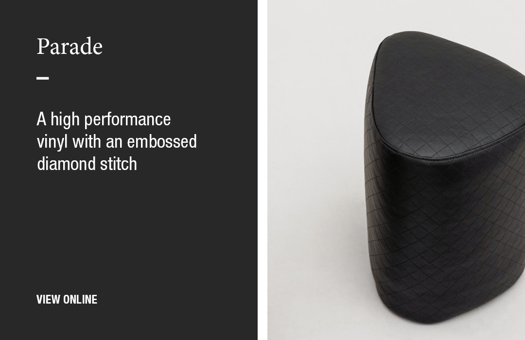 Parade: A high performance vinyl with an embossed diamond stitch